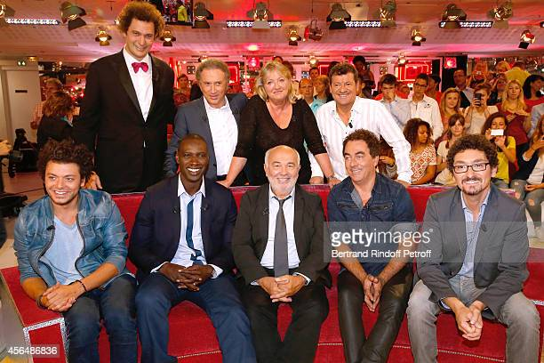 Eric Antoine Michel Drucker Charlotte de Turckheim Francis Ginibre Kev Adams Omar Sy Gerard Jugnot Eric Carriere and David Foenkinos attend the...