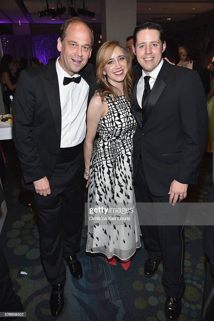 Eric Avram, Simone Swink and Rick Klein attend the Yahoo News/ABC News White House Correspondents' Dinner Pre-Party at Washington Hilton on April 30, 2016 in Washington, DC.