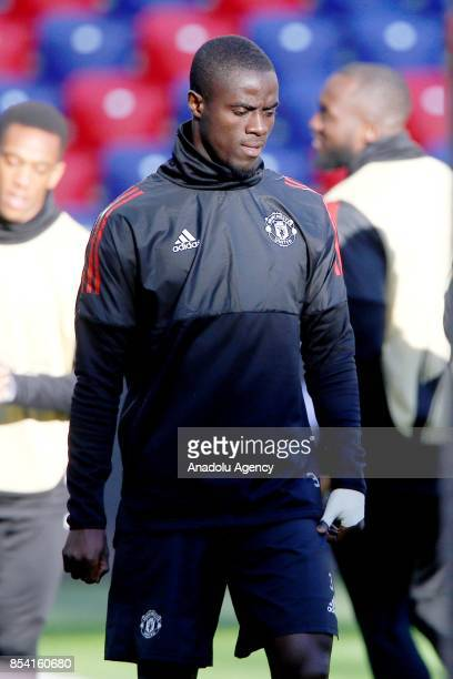 Eric Bailly of Manchester United attends a training session of his team ahead of UEFA Champions League Group match between Manchester and CSKA Moscow...