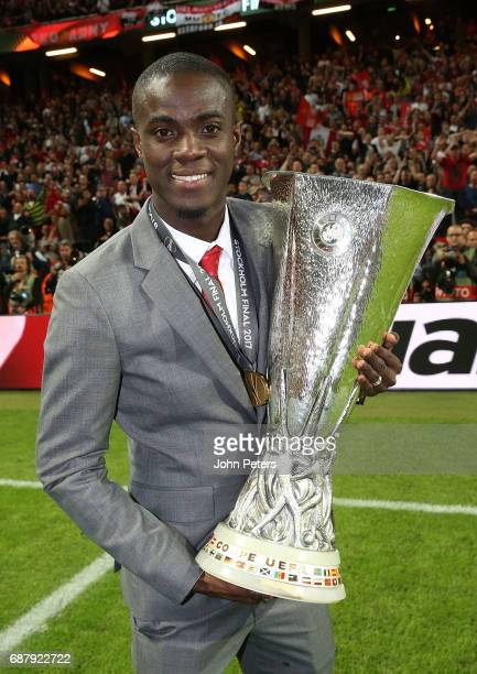 Eric Bailly of Manchester United celebrates with the Europa League trophy after the UEFA Europa League Final match between Manchester United and Ajax...