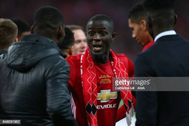Eric Bailly of Manchester United during the EFL Cup Final match between Manchester United and Southampton at Wembley Stadium on February 26 2017 in...