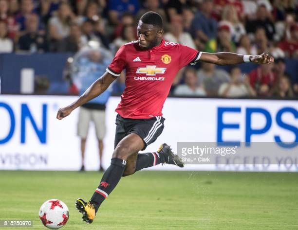 Eric Bailly of Manchester United during the Los Angeles Galaxy's friendly match against Manchester United at the StubHub Center on July 15 2017 in...