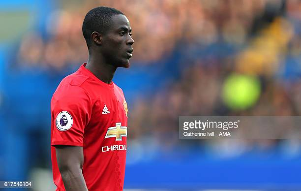 Eric Bailly of Manchester United during the Premier League match between Chelsea and Manchester United at Stamford Bridge on October 23 2016 in...
