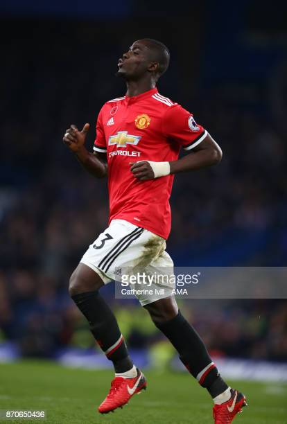Eric Bailly of Manchester United during the Premier League match between Chelsea and Manchester United at Stamford Bridge on November 5 2017 in...