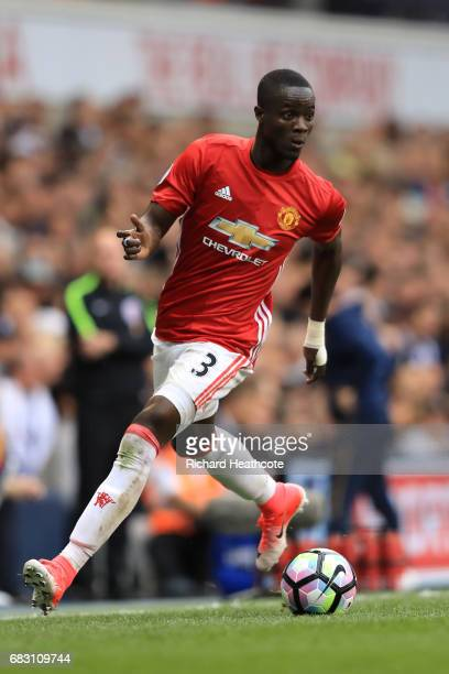 Eric Bailly of Manchester United in action during the Preimer League match between Tottenham Hotspur and Manchester United at White Hart Lane on May...