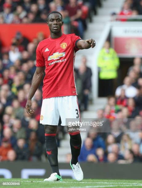 Eric Bailly of Manchester United in action during the Premier League match between Manchester United and West Bromwich Albion at Old Trafford on...
