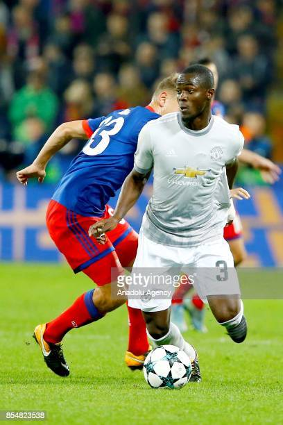 Eric Bailly of Manchester United in action during the UEFA Champions League match between CSKA Moscow and Manchester United at VEB Arena in Moscow on...