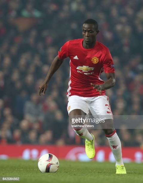 Eric Bailly of Manchester United in action during the UEFA Europa League Round of 32 first leg match between Manchester United and AS SaintEtienne at...