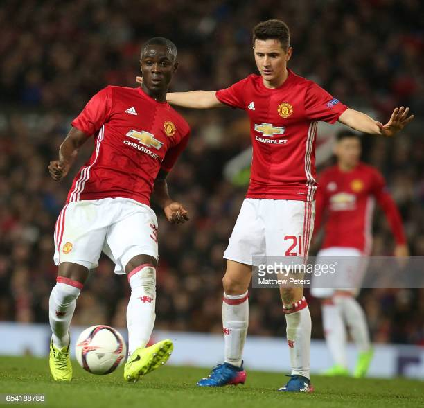 Eric Bailly of Manchester United in action during the UEFA Europa League Round of 16 second leg match between Manchester United and FK Rostov at Old...