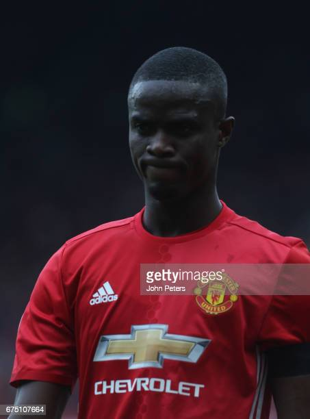Eric Bailly of Manchester United leaves the match with an injury during the Premier League match between Manchester United and Swansea City at Old...