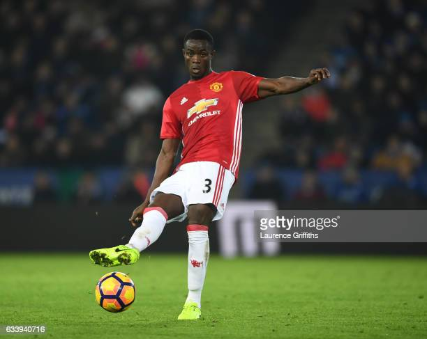 Eric Bailly of Manchester United lin action during the Premier League match between Leicester City and Manchester United at The King Power Stadium on...