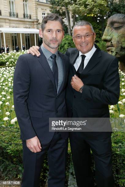 Eric Bana and Jean Christophe Babin attend the Bulgari Cocktail Event At Apicius as part of Paris Fashion Week at Apicius on July 8 2014 in Paris...