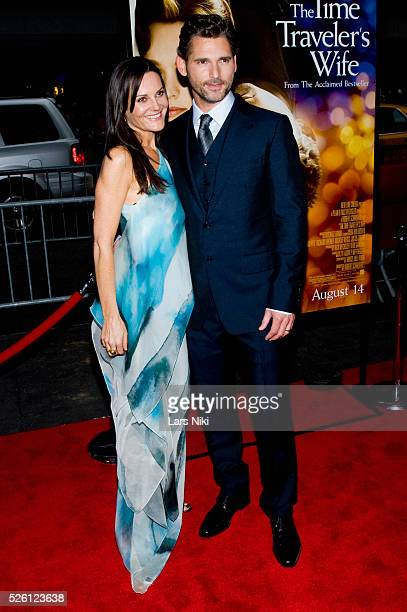 Eric Bana and Rebecca Gleeson attend 'The Time Traveler's Wife' world premiere at the Ziegfeld theatre in New York City