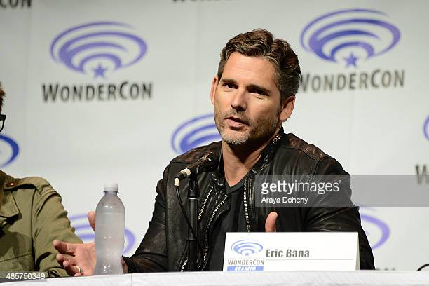 Eric Bana attends the 'Deliver Us From Evil' panel at WonderCon Anaheim 2014 Day 2 at Anaheim Convention Center on April 19 2014 in Anaheim California