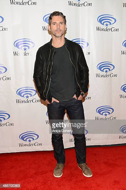 Eric Bana attends the Sony Pictures' 'Deliver Us From Evil' Cast Filmmakers press line at Wondercon at Anaheim Convention Center on April 19 2014 in...