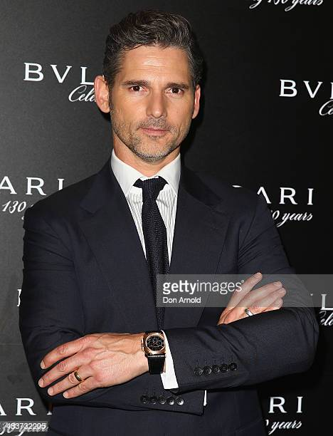 Eric Bana poses at the 130th Anniversary of Bvlgari Gala Dinner at a private residence in Darling Point on April 10 2014 in Sydney Australia