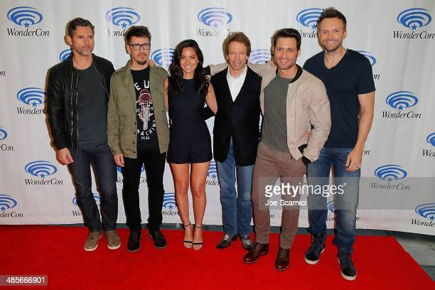 Eric Bana Scott Derrickson Olivia Munn Jerry Bruckheimer Edgar Ramirez and Joel McHale attend the Sony Pictures' 'Deliver Us From Evil' Cast...