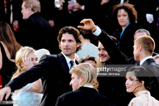Eric Bana Sean Bean and Orlando Bloom during 2004 Cannes Film Festival 'Troy' Premiere at Palais Du Festival in Cannes France