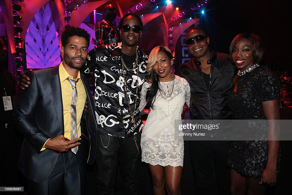 <a gi-track='captionPersonalityLinkClicked' href=/galleries/search?phrase=Eric+Benet&family=editorial&specificpeople=778854 ng-click='$event.stopPropagation()'>Eric Benet</a>, <a gi-track='captionPersonalityLinkClicked' href=/galleries/search?phrase=2+Chainz&family=editorial&specificpeople=8559144 ng-click='$event.stopPropagation()'>2 Chainz</a>, <a gi-track='captionPersonalityLinkClicked' href=/galleries/search?phrase=Melanie+Fiona&family=editorial&specificpeople=5543211 ng-click='$event.stopPropagation()'>Melanie Fiona</a>, Doug E Fresh and <a gi-track='captionPersonalityLinkClicked' href=/galleries/search?phrase=Estelle+-+Singer&family=editorial&specificpeople=206205 ng-click='$event.stopPropagation()'>Estelle</a> attend the 2012 Sould Train Awards at Planet Hollywood Casino Resort on November 8, 2012 in Las Vegas, Nevada.
