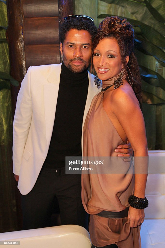 Eric Benet and Chante Moore attend the 2010 Soul Train Awards preparty hosted by NeYo at Club Havana on November 9 2010 in Atlanta Georgia