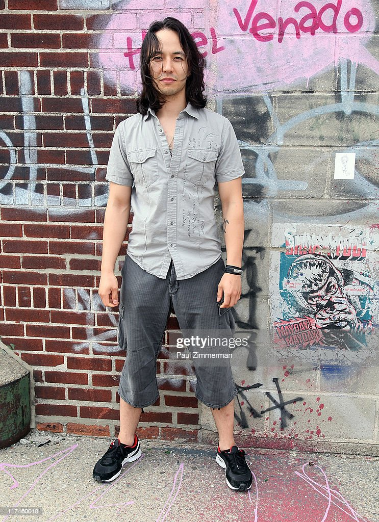 Eric Bergmann on the set of the Eve to Adam 'Run Your Mouth' music video shoot at Streets of Brooklyn on June 26, 2011 in New York City.