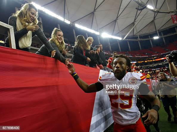 Eric Berry of the Kansas City Chiefs walks off the field after their 2928 win over the Atlanta Falcons at Georgia Dome on December 4 2016 in Atlanta...