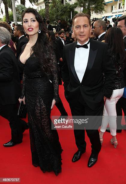 Eric Besson and his wife Yasmine Besson attend 'The Search' premiere during the 67th Annual Cannes Film Festival on May 21 2014 in Cannes France