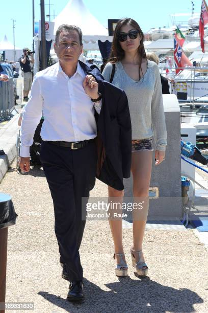 Eric Besson and Yasmine Besson are seen during the 66th annual Cannes Film Festival on May 23 2013 in Cannes France