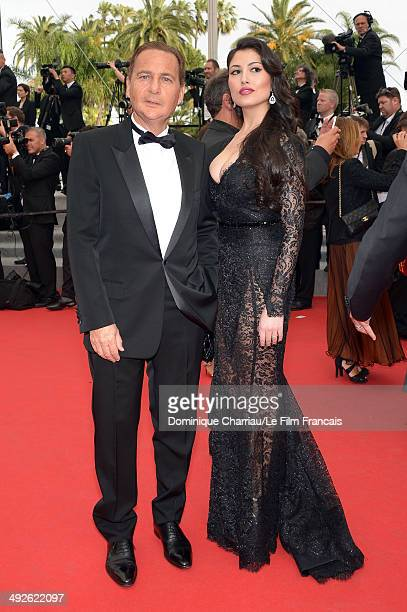 Eric Besson and Yasmine Tordjam attend 'The Search' Premiere at the 67th Annual Cannes Film Festival on May 21 2014 in Cannes France