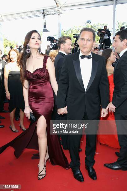 Eric Besson and Yasmine Tordjman attends the Premiere of 'Nebraska' during the 66th Annual Cannes Film Festival at The Palais des Festivals on May 23...