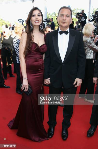 Eric Besson and Yasmine Tordjmanattends the Premiere of 'Nebraska' during the 66th Annual Cannes Film Festival at The Palais des Festivals on May 23...