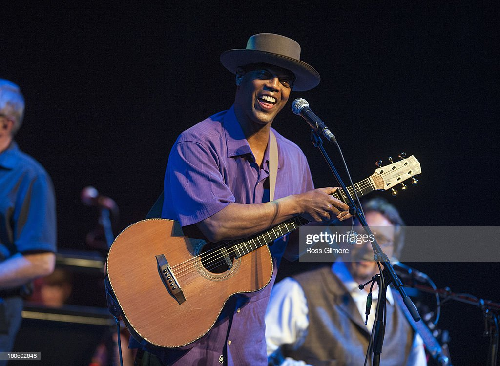 Eric Bibb performs on stage as part of Transatlantic Sessions at Celtic Connections Festival 2013 at Glasgow Royal Concert Hall on February 1, 2013 in Glasgow, Scotland.