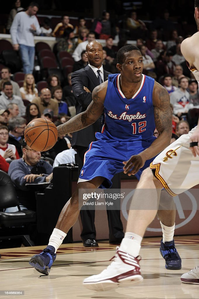 <a gi-track='captionPersonalityLinkClicked' href=/galleries/search?phrase=Eric+Bledsoe&family=editorial&specificpeople=6480906 ng-click='$event.stopPropagation()'>Eric Bledsoe</a> #12 of the Los Angeles Clippers looks to drive to the basket against the Cleveland Cavaliers at The Quicken Loans Arena on March 1, 2013 in Cleveland, Ohio.