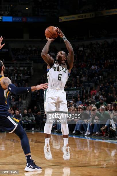 Eric Bledsoe of the Milwaukee Bucks shoots the ball against the Utah Jazz on December 9 2017 at the BMO Harris Bradley Center in Milwaukee Wisconsin...