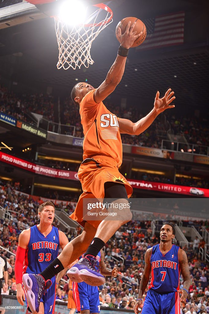 <a gi-track='captionPersonalityLinkClicked' href=/galleries/search?phrase=Eric+Bledsoe&family=editorial&specificpeople=6480906 ng-click='$event.stopPropagation()'>Eric Bledsoe</a> #2 of the Phoenix Suns goes up for a shot against the Detroit Pistons on March 21, 2014 at U.S. Airways Center in Phoenix, Arizona.