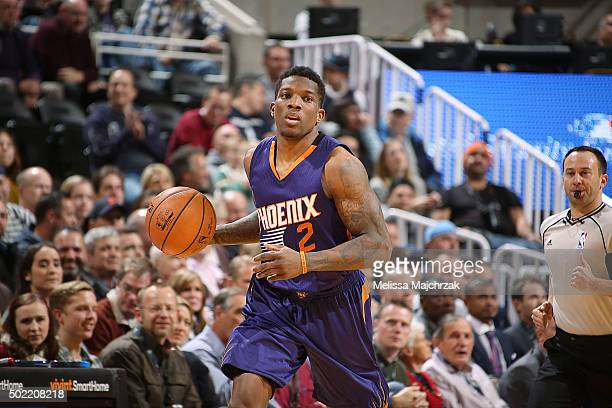Eric Bledsoe of the Phoenix Suns handles the ball against the Utah Jazz on December 21 2015 at vivintSmartHome Arena in Salt Lake City Utah NOTE TO...