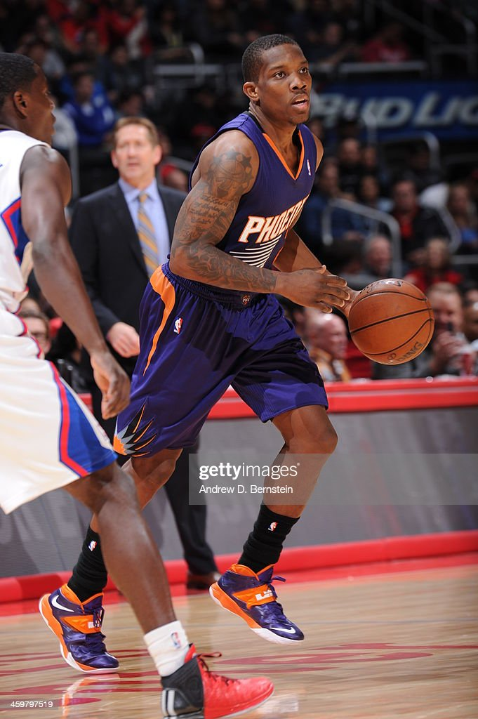 <a gi-track='captionPersonalityLinkClicked' href=/galleries/search?phrase=Eric+Bledsoe&family=editorial&specificpeople=6480906 ng-click='$event.stopPropagation()'>Eric Bledsoe</a> #2 of the Phoenix Suns handles the basketball during a game against the Los Angeles Clippers at STAPLES Center on December 30, 2013 in Los Angeles, California.