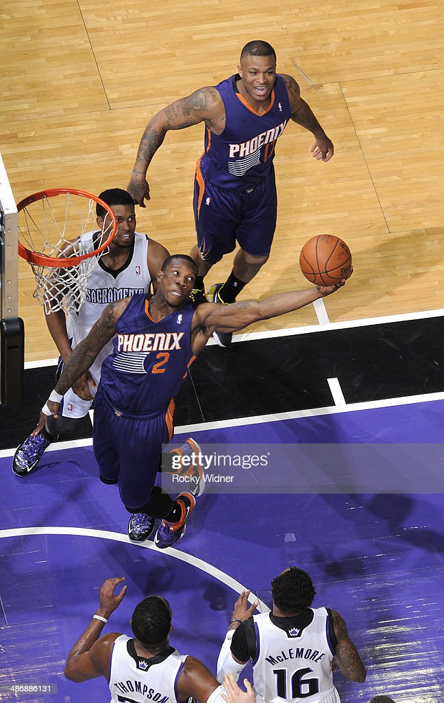 <a gi-track='captionPersonalityLinkClicked' href=/galleries/search?phrase=Eric+Bledsoe&family=editorial&specificpeople=6480906 ng-click='$event.stopPropagation()'>Eric Bledsoe</a> #2 of the Phoenix Suns rebounds against the Sacramento Kings on April16, 2014 at Sleep Train Arena in Sacramento, California.