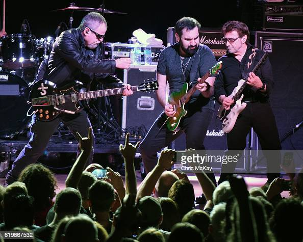 Eric Bloom Richie Castellano and Donald 'Buck Dharma' Roeser of Blue Oyster Cult perform at Variety Playhouse on October 29 2016 in Atlanta Georgia
