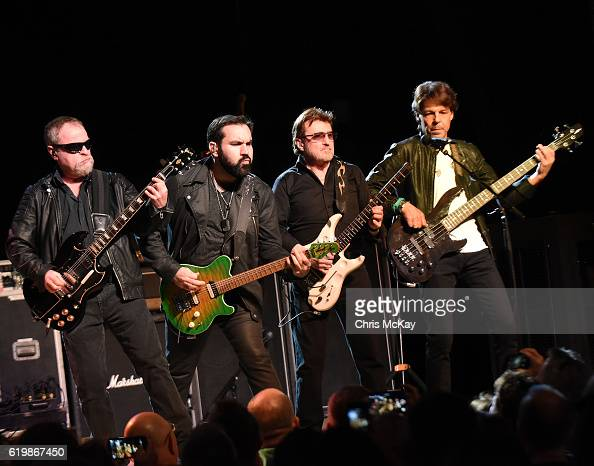 Eric Bloom Richie Castellano Donald 'Buck Dharma' Roeser and Kasim Sulton of Blue Oyster Cult perform at Variety Playhouse on October 29 2016 in...