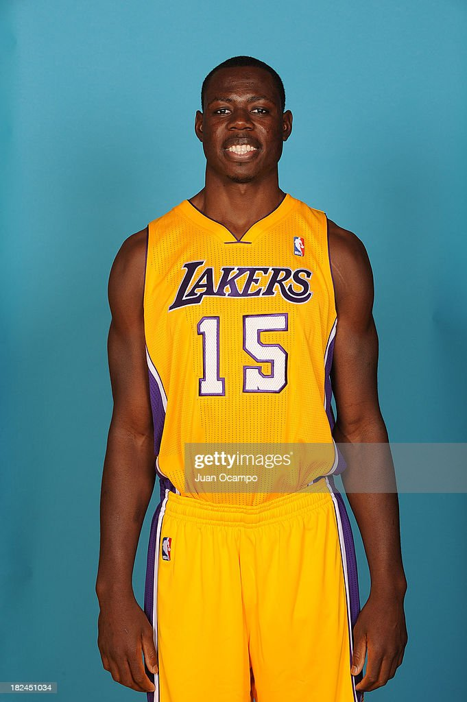 Eric Boateng #15 of the Los Angeles Lakers poses for a head shot during media day at Toyota Sports Center on September 28, 2013 in El Segundo, California.