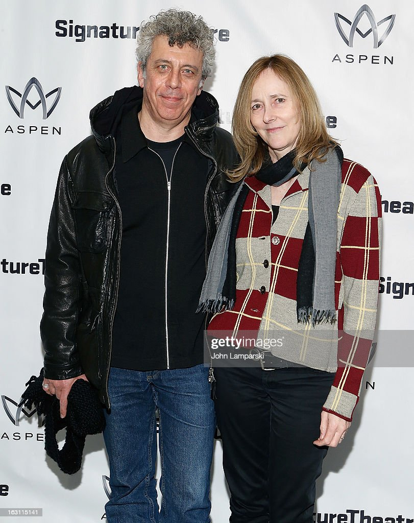 <a gi-track='captionPersonalityLinkClicked' href=/galleries/search?phrase=Eric+Bogosian&family=editorial&specificpeople=577475 ng-click='$event.stopPropagation()'>Eric Bogosian</a> and Jo Bonney attend the 'Old Hats' Opening Night at Signature Theatre Company's The Pershing Square Signature Center on March 4, 2013 in New York City.