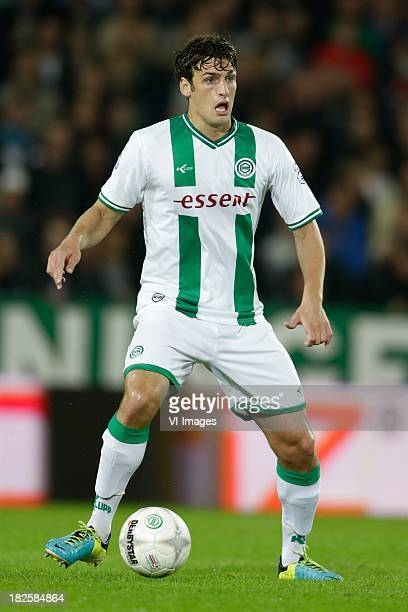 Eric Botteghin of FC Groningen during the Dutch Eredivisie match between FC Groningen and RKC Waalwijk at De Euroborg on September 21 2013 in...