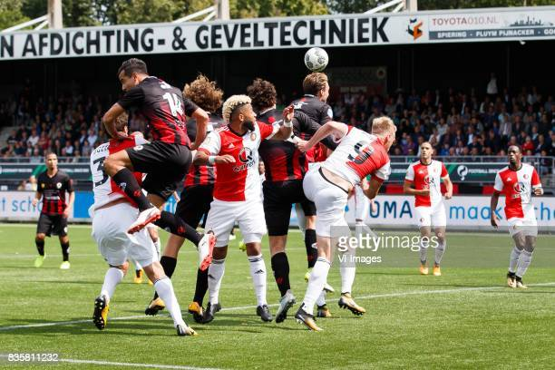 Eric Botteghin of Feyenoord Ali Messaoud of Excelsior Wout Faes of Excelsior Tonny Vilhena of Feyenoord Jurgen Mattheij of Excelsior Milan Massop of...