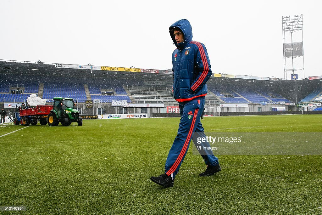 Eric Botteghin of Feyenoord during the Dutch Eredivisie match between PEC Zwolle and Feyenoord Rotterdam at the IJsseldelta stadium on February 14, 2016 in Zwolle, The Netherlands