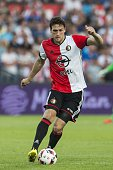 Eric Botteghin of Feyenoord during the preseason friendly match between Feyenoord and Valencia on July 23 2016 at the Kuip in Rotterdam The...