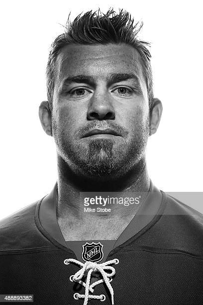 Eric Boulton of the New York Islanders poses for a portrait on September 17 2015 at the Nassau Coliseum in Uniondale New York