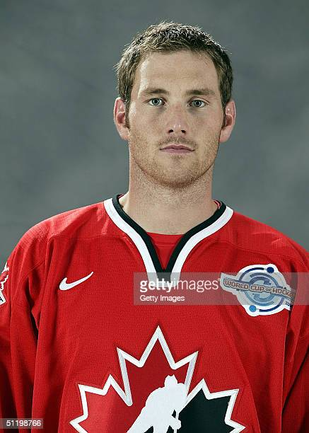 Eric Brewer of Team Canada poses for a portrait during camp at the University of Ottawa Ottawa Ontario August 19 2004