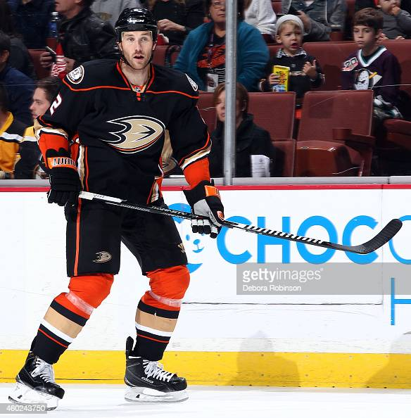 Eric Brewer of the Anaheim Ducks skates during the game against the Boston Bruins on December 1 2014 at Honda Center in Anaheim California