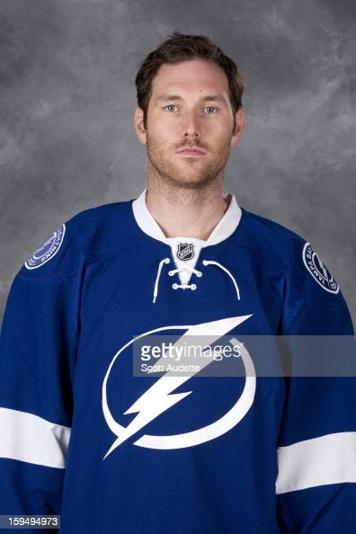 Eric Brewer of the Tampa Bay Lightning poses for his official headshot for the 20122013 season at the Tampa Bay Times Forum on January 13 2013 in...